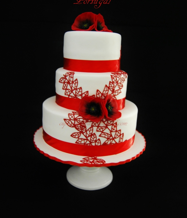 Poppies Wedding Cake