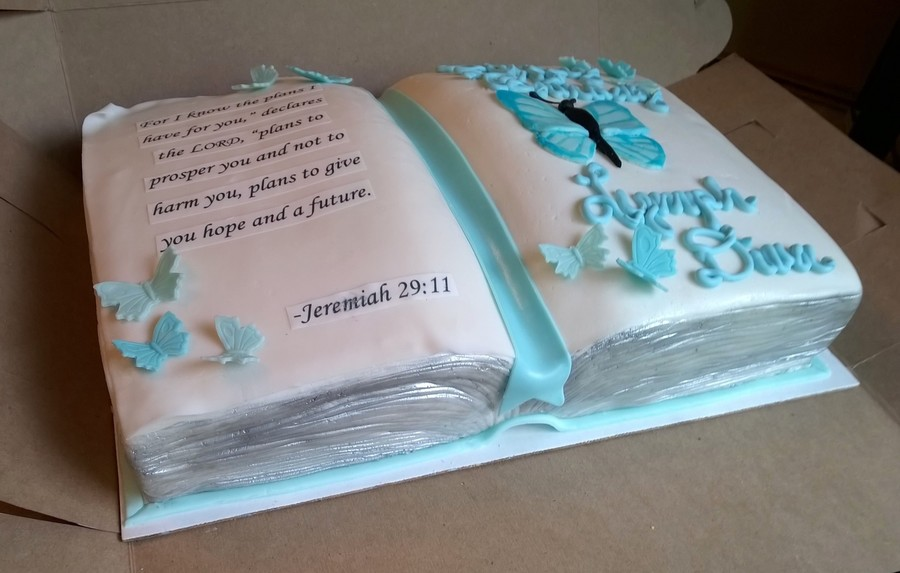 Open Book Cake Decorating Ideas