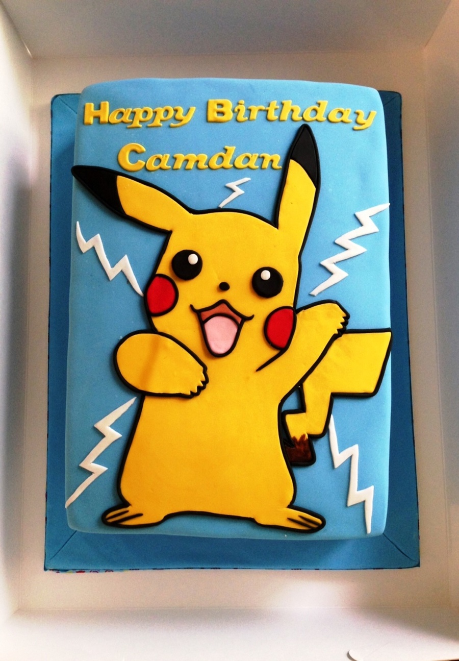 how to make a pikachu cake