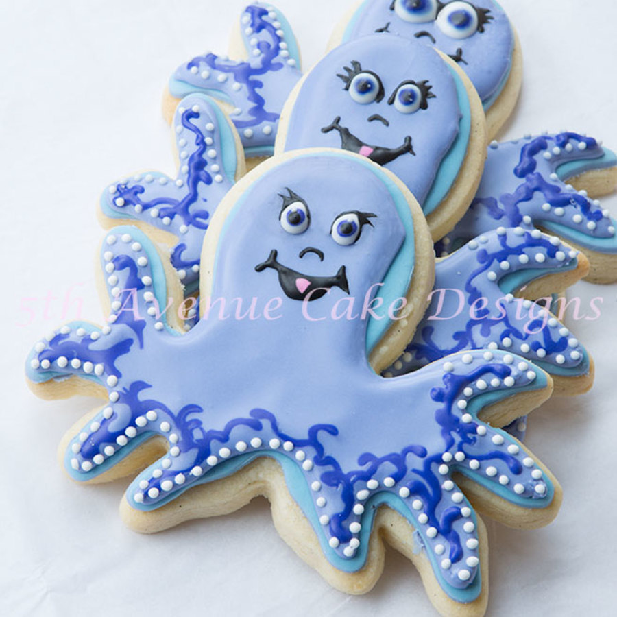 Under The Sea Octopus Cookies on Cake Central