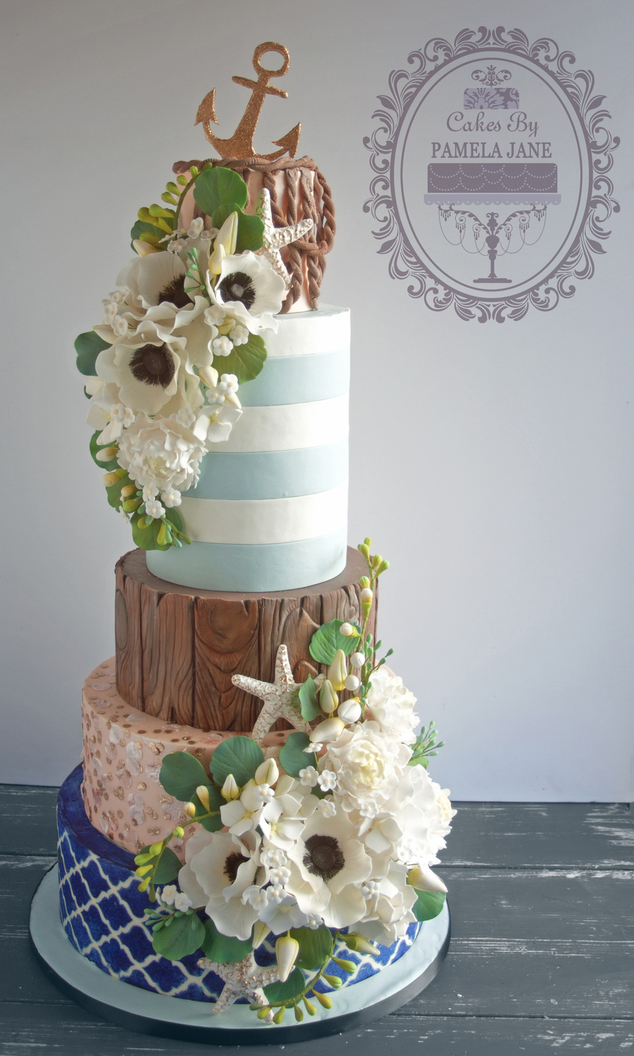 elegant beach themed wedding cakes nautical wedding cake cakecentral 13956