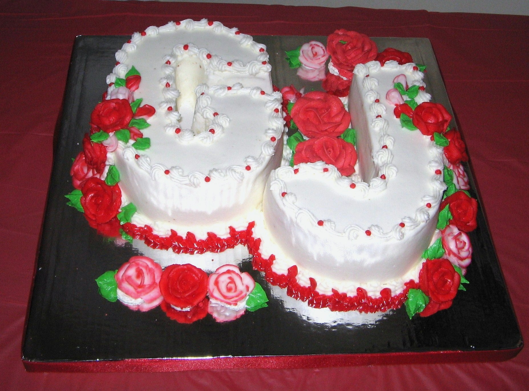 Roses And Letters For Moms Birthday Cakecentral