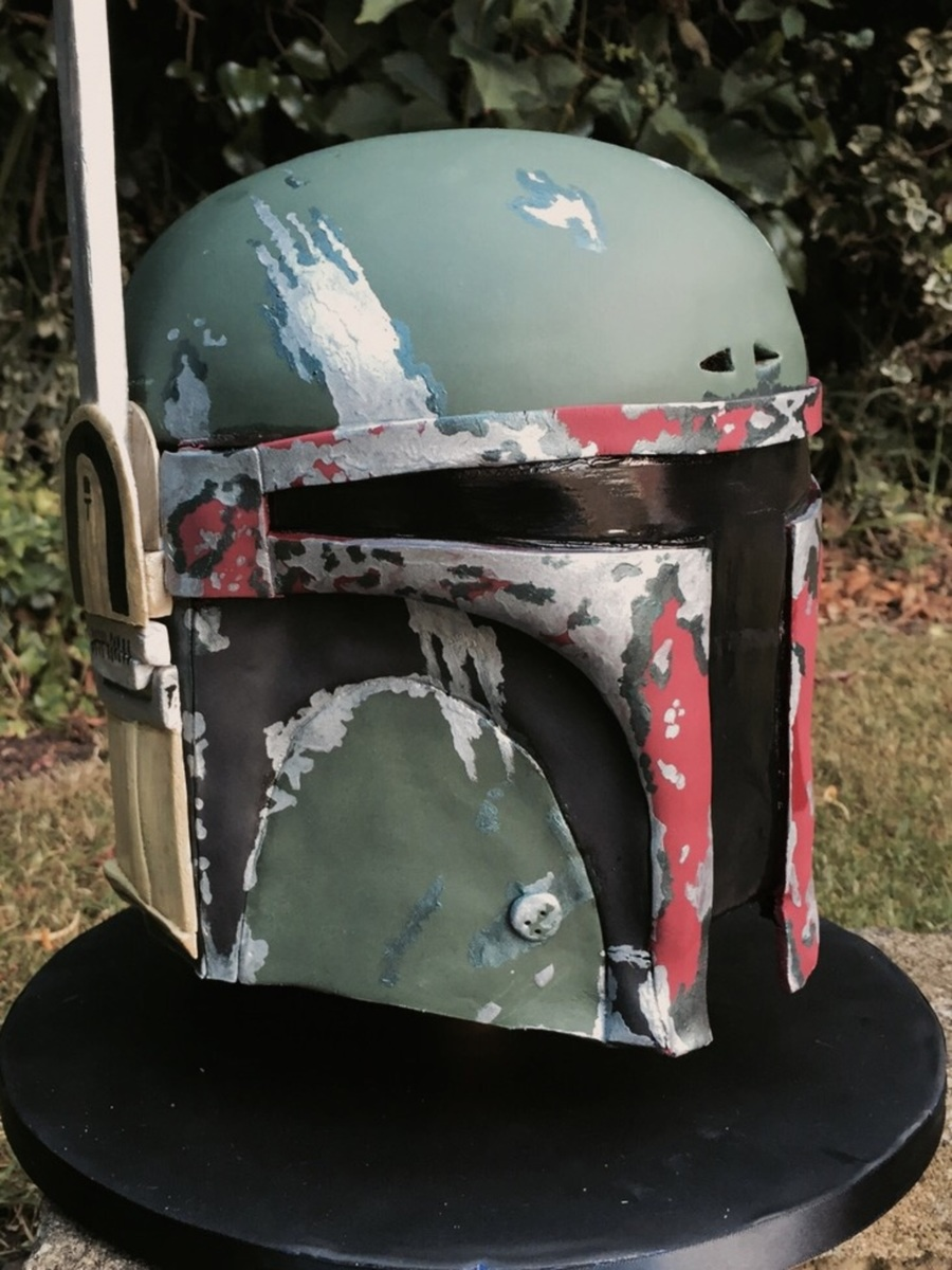 Star Wars Boba Fett Helmet Cake Cakecentral Com
