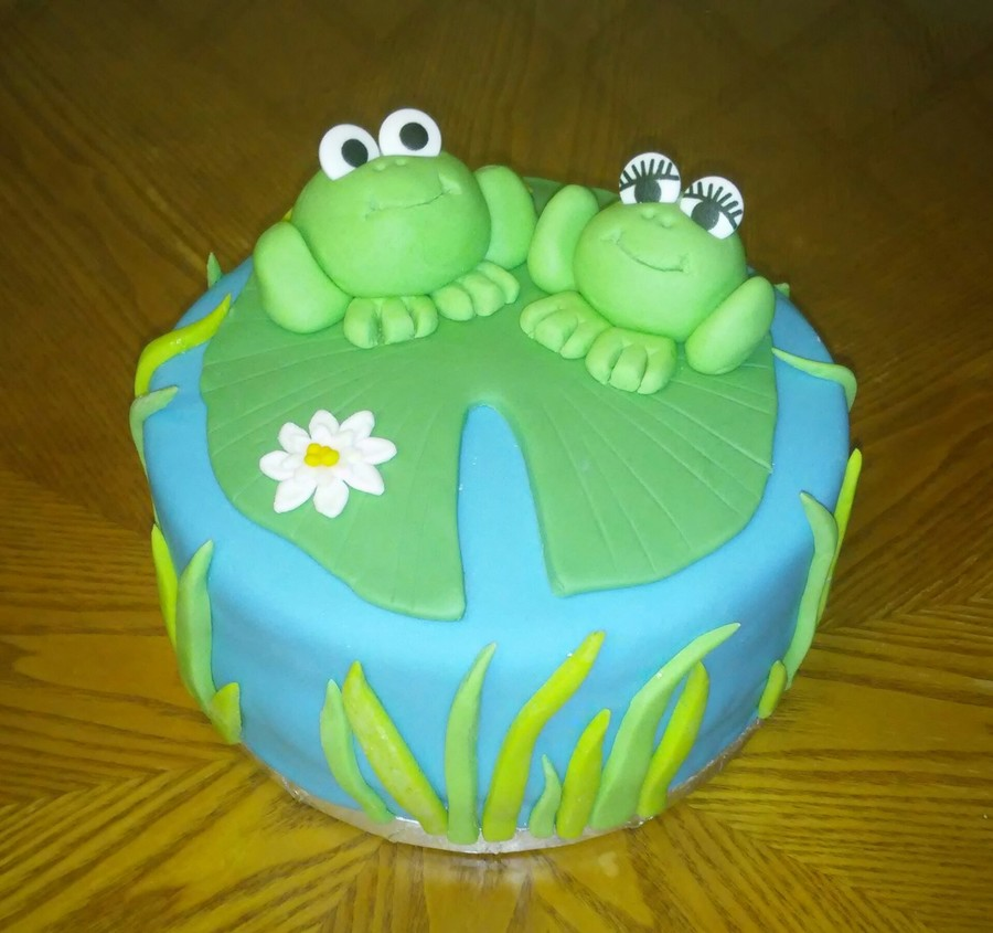 Frog Themed Birthday Cake Cakecentral Com