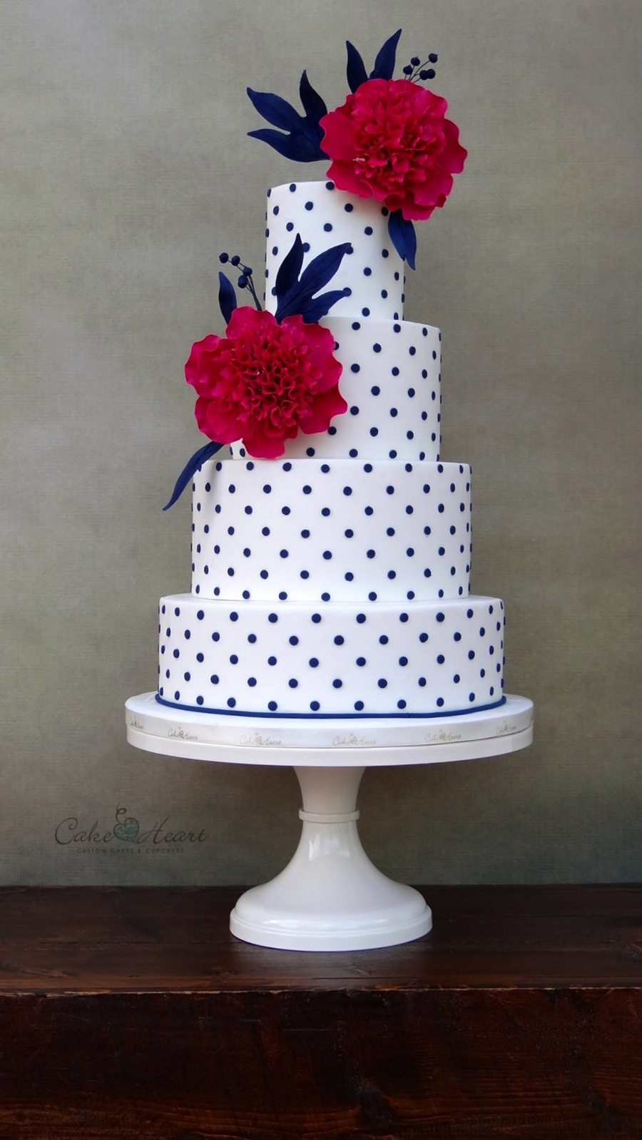 Peonies And Polka Dots Cakecentral Com