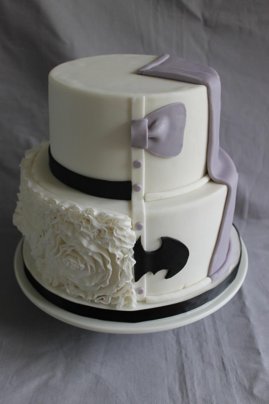 Half Bride Amp Groom Cake Cakecentral Com