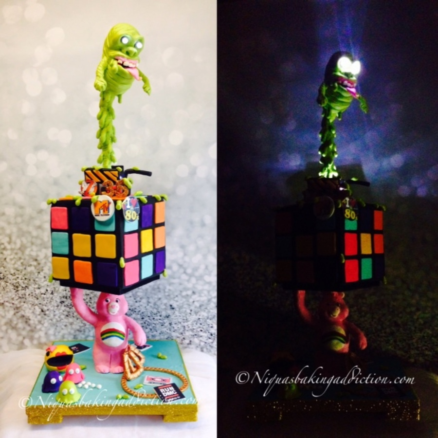 Ultimate 80 S Theme Gravity Defying Cake Cakecentral Com