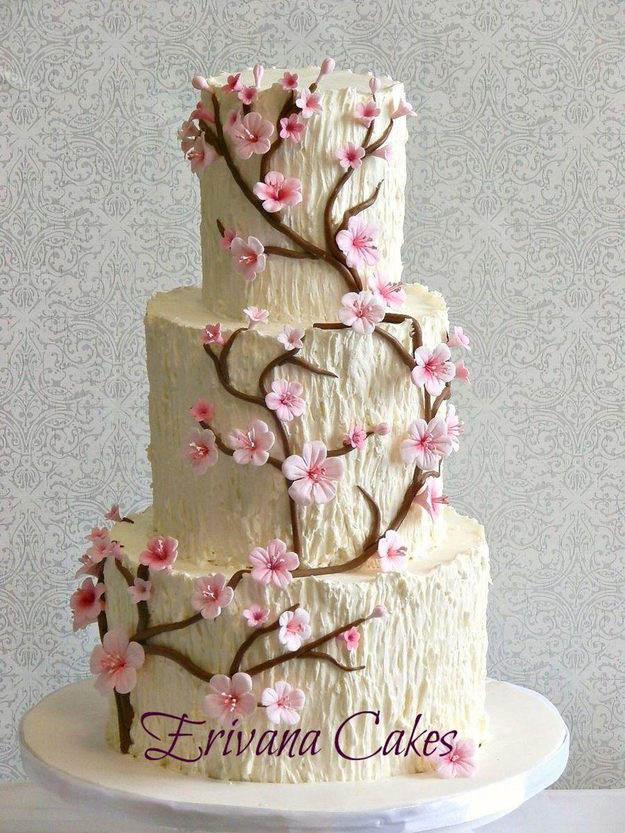 Tree Trunk Cherry Blossom Wedding Cake Cakecentral Com