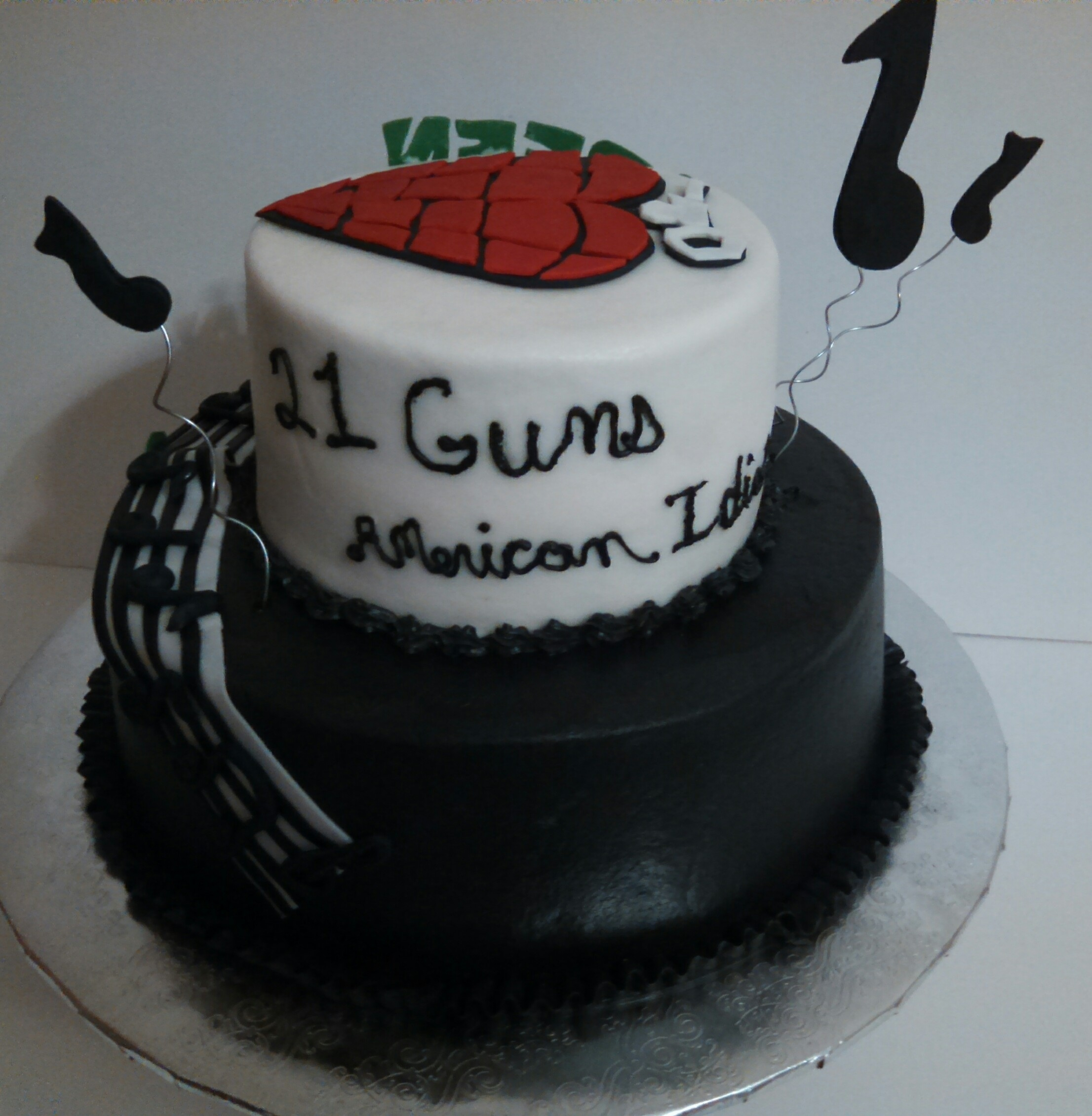 Rock N Roll And Green Day Cake Cakecentral