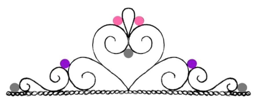 free printable tiara template - tiara crown cupcake template