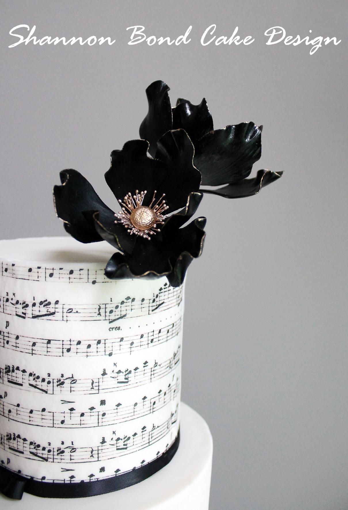 Sheet Music On Wedding Cake Tutorial