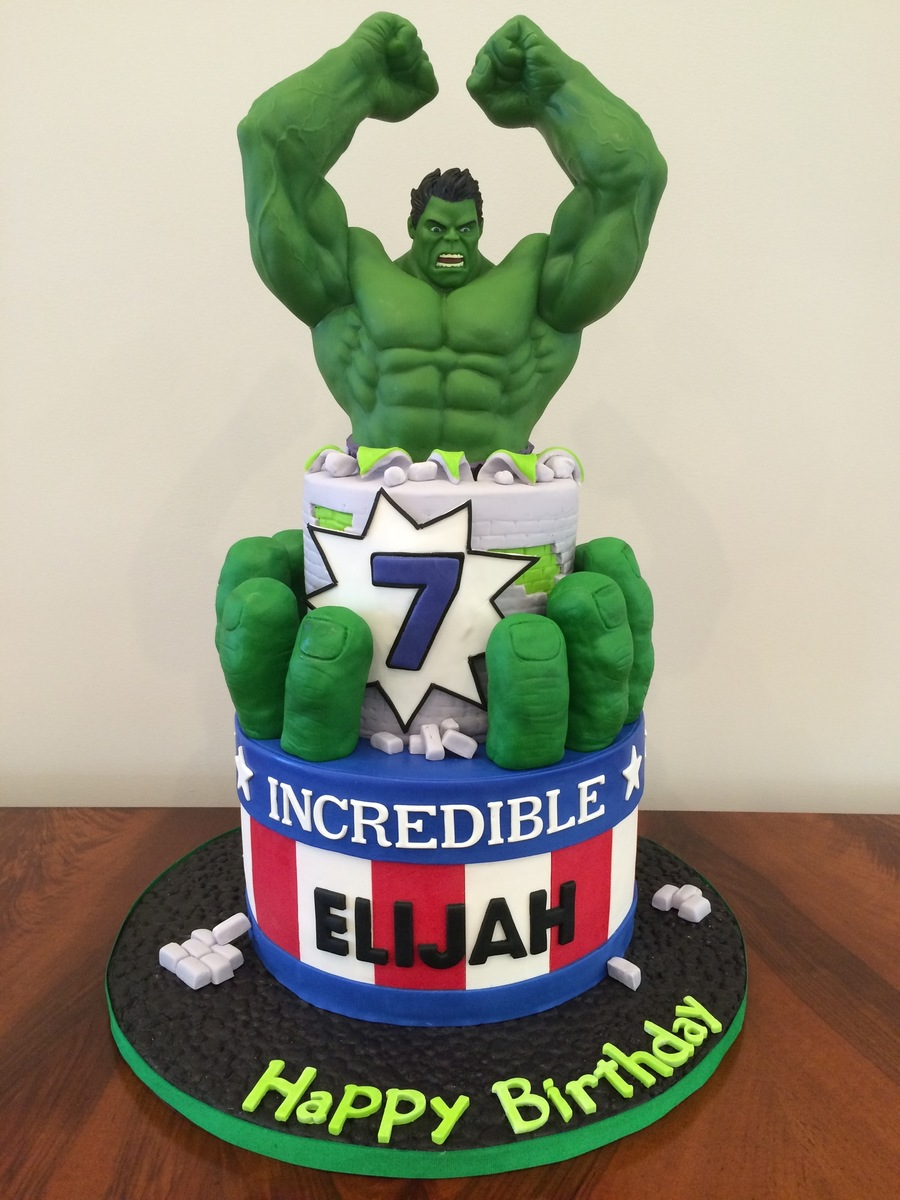 How To Make A Hulk Birthday Cake
