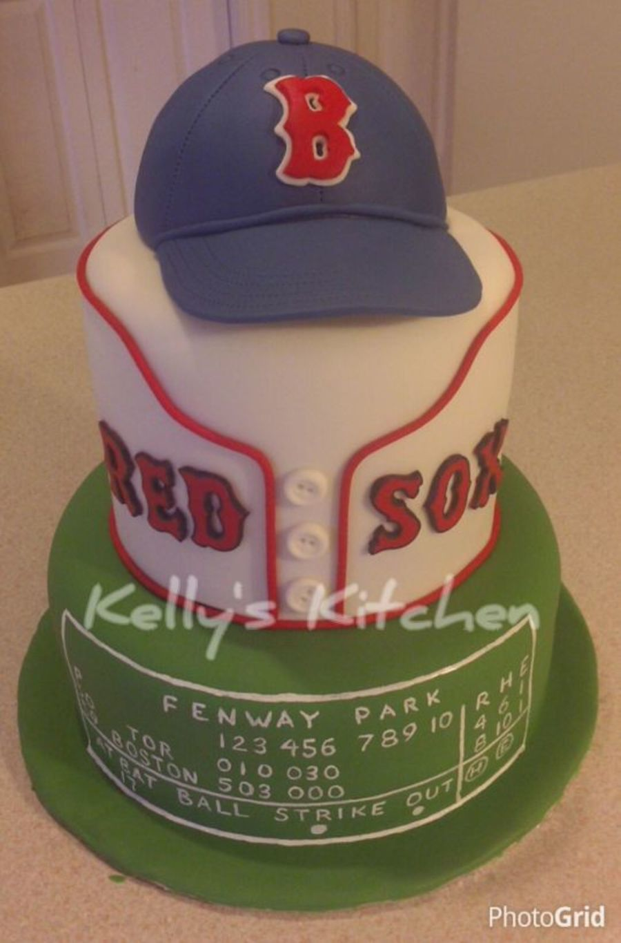 Boston Red Sox On Cake Central Birthday