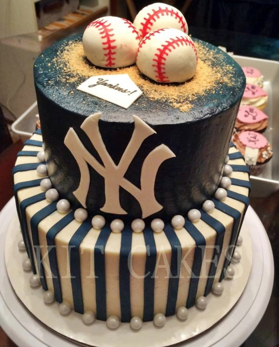 New York Yankees 2 Tier Birthday Cake Cakecentral
