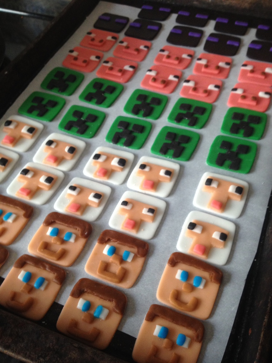 Minecraft Cupcake Toppers on Cake Central