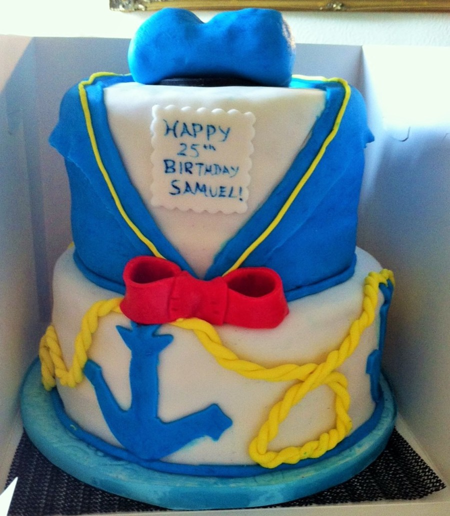 Pleasing Donald Duck Birthday Cake May 2015 Cakecentral Com Funny Birthday Cards Online Alyptdamsfinfo