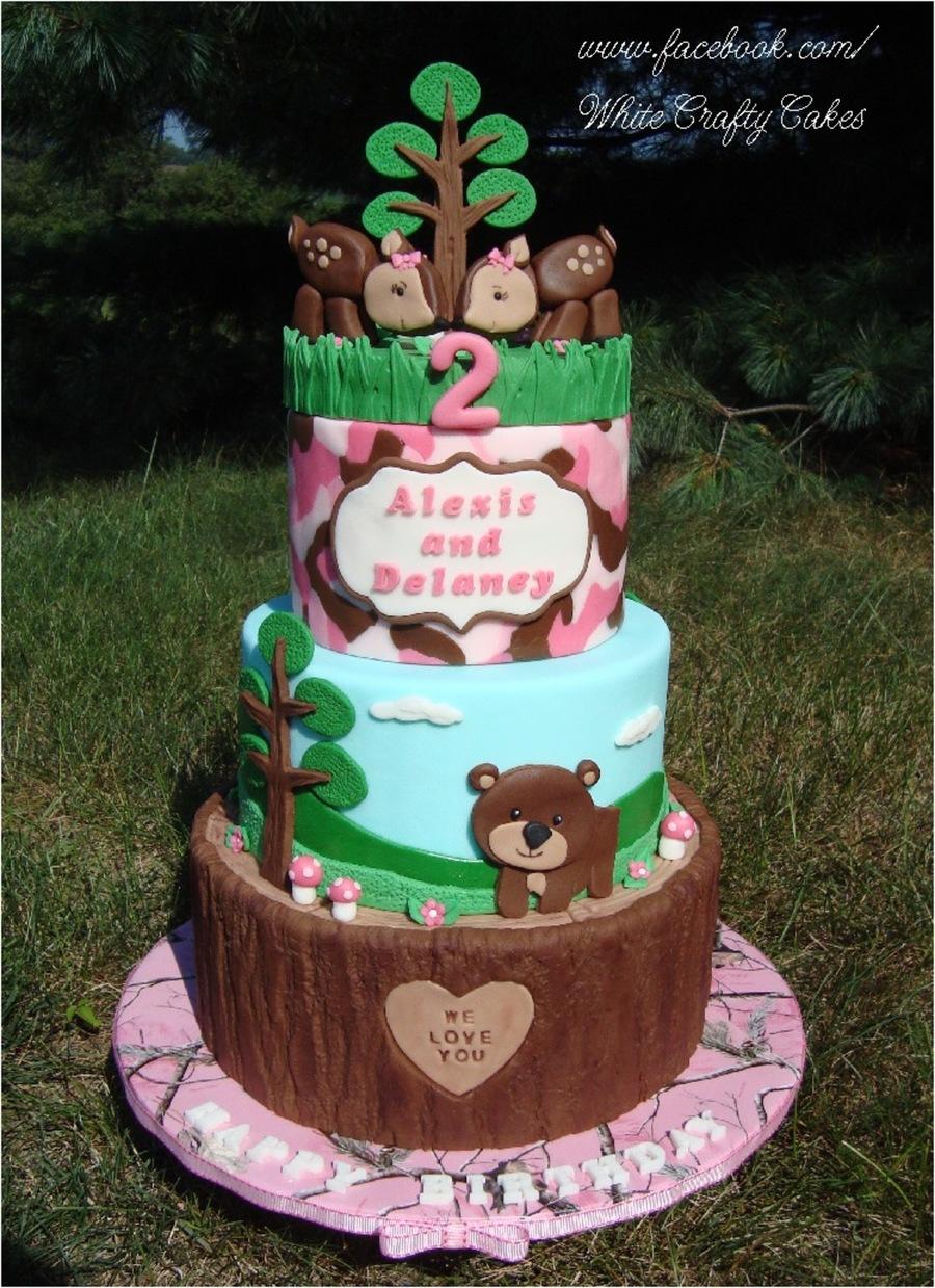 Pink Camo Woodland Themed Cake Cakecentral Com