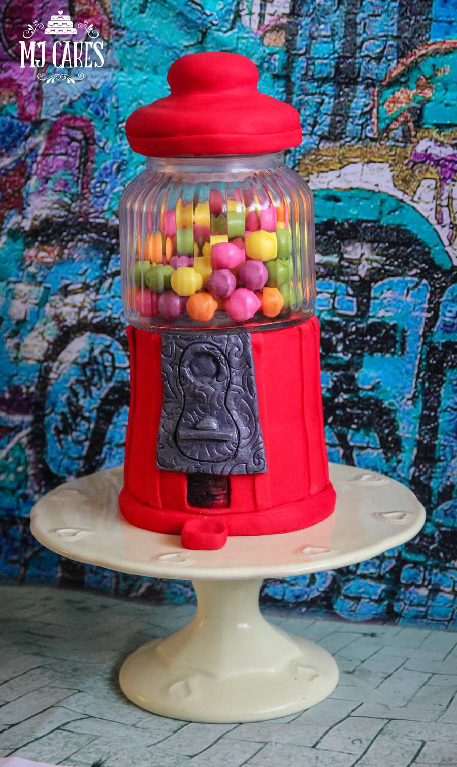 Old Fashioned Gumball Machine Cake - CakeCentral.com