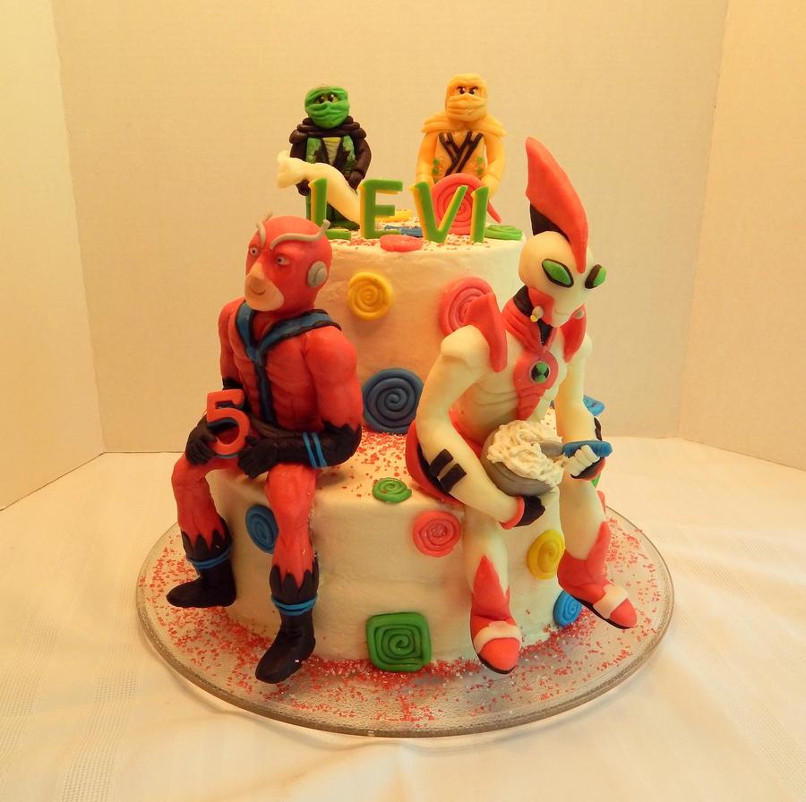 Giant Man Way Big And Lego Ninjago Cake Cakecentral Com