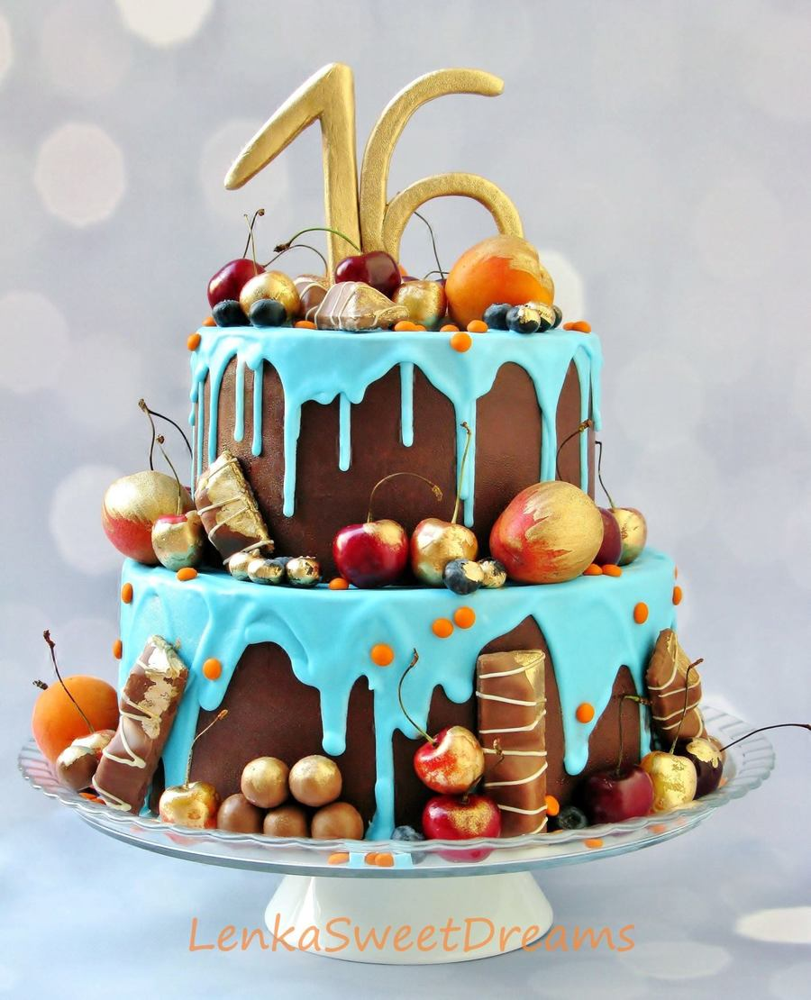 Chocolate Ganache Birthday Cake On Central