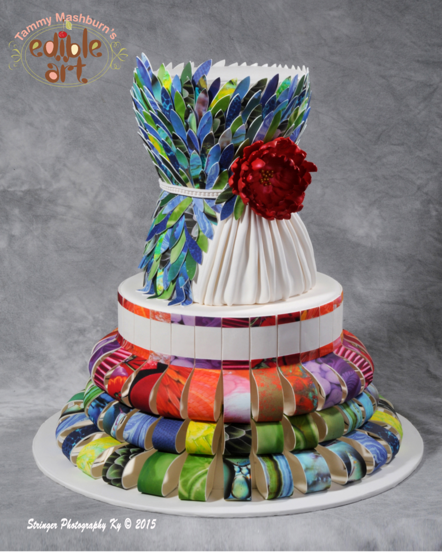 Edible Image Paper Dress on Cake Central