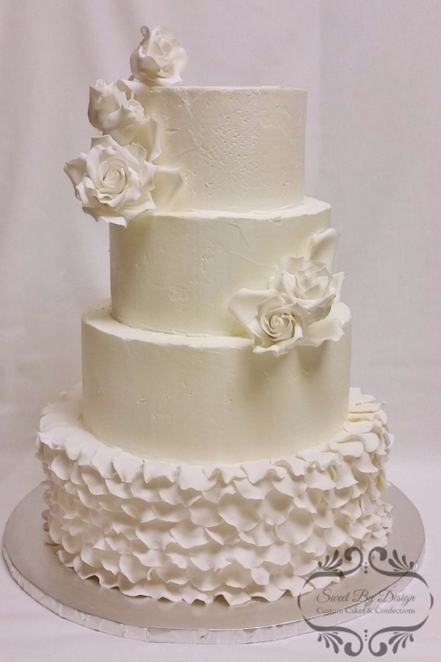 rose petal wedding cake tutorial and petal wedding cake cakecentral 19303