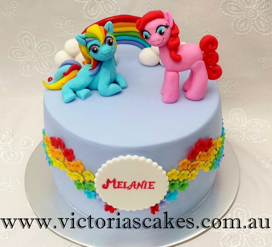 Birthday Cake Rainbow Design : My Little Pony Rainbow Birthday Cake - CakeCentral.com