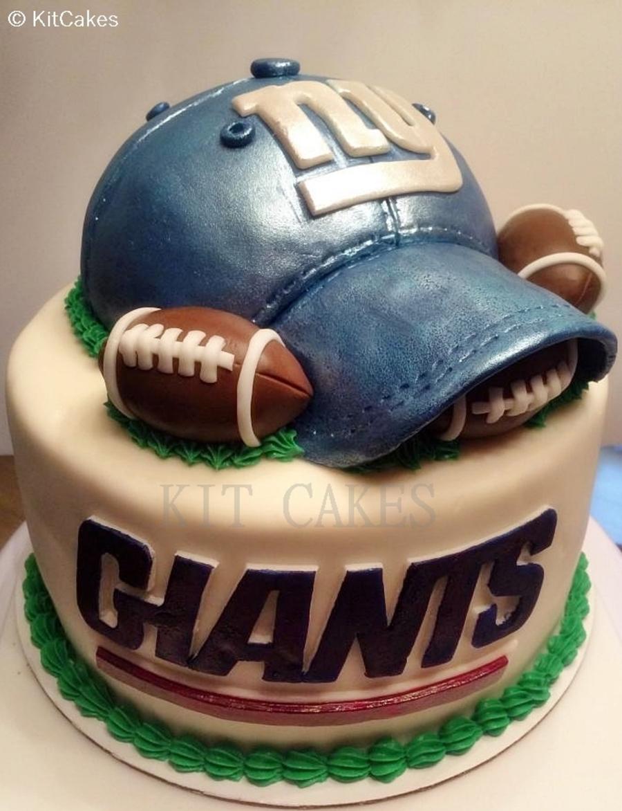 Cake Designs Of Football : Giants Football Birthday Cake - CakeCentral.com