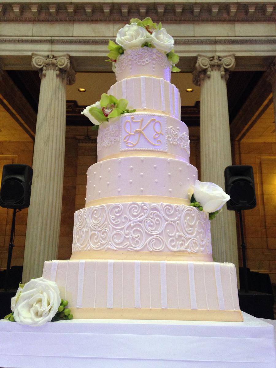 6 Tier Buttercream Wedding Cake