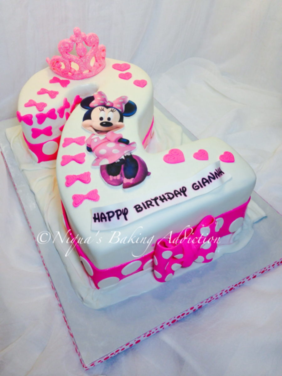 Number 2 Shaped Cake : Minnie Mouse Number 2 Cake - CakeCentral.com