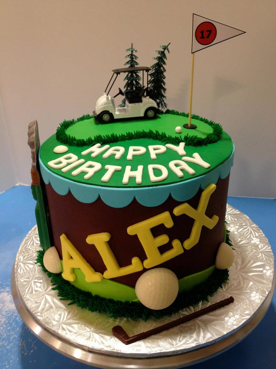Chocolate Buttercream 13th Birthday Golf Themed Cake