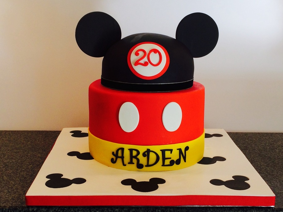 Excellent Mickey Mouse Themed Birthday Cake Cakecentral Com Funny Birthday Cards Online Unhofree Goldxyz