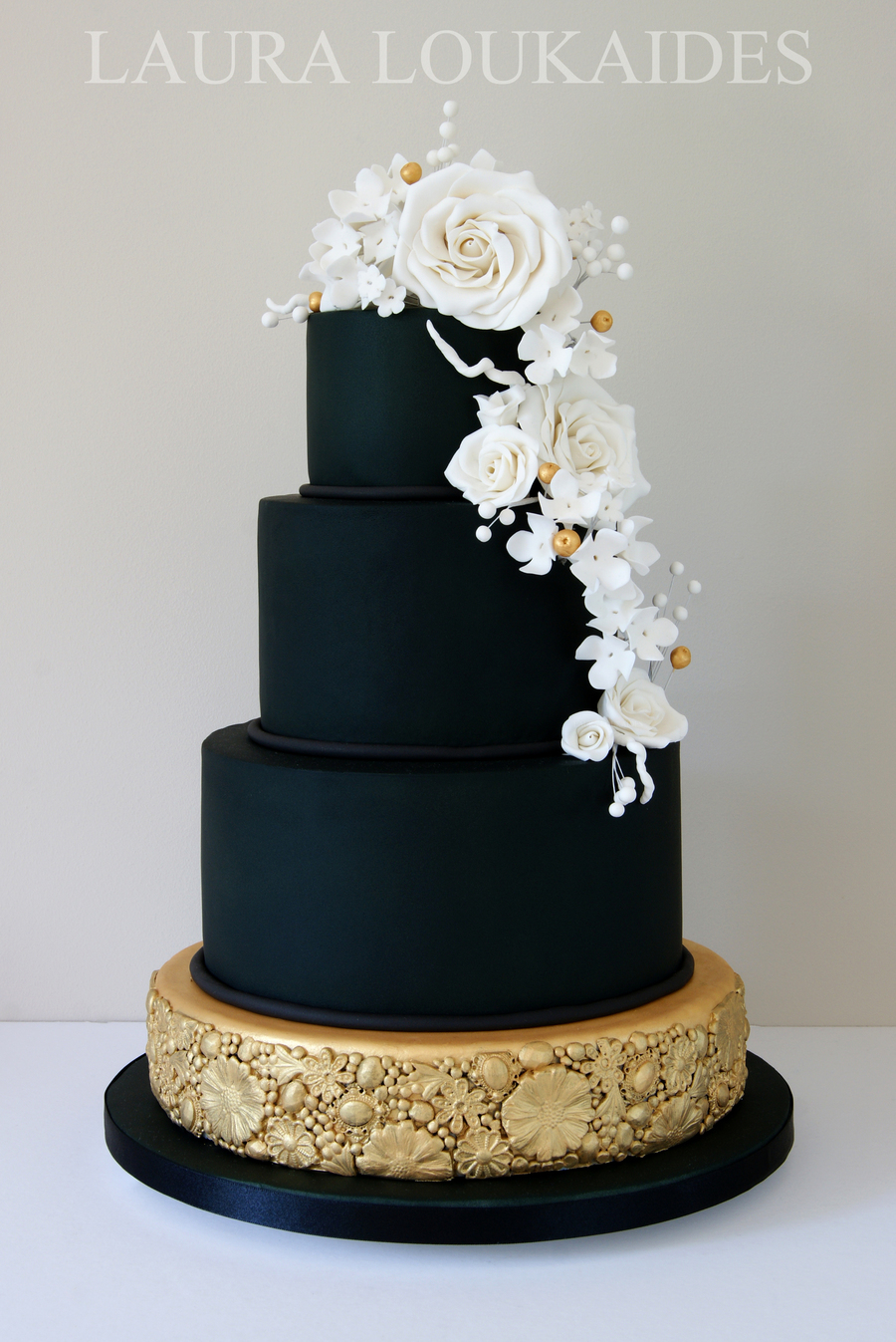 Black And Gold Wedding Cake on Cake Central