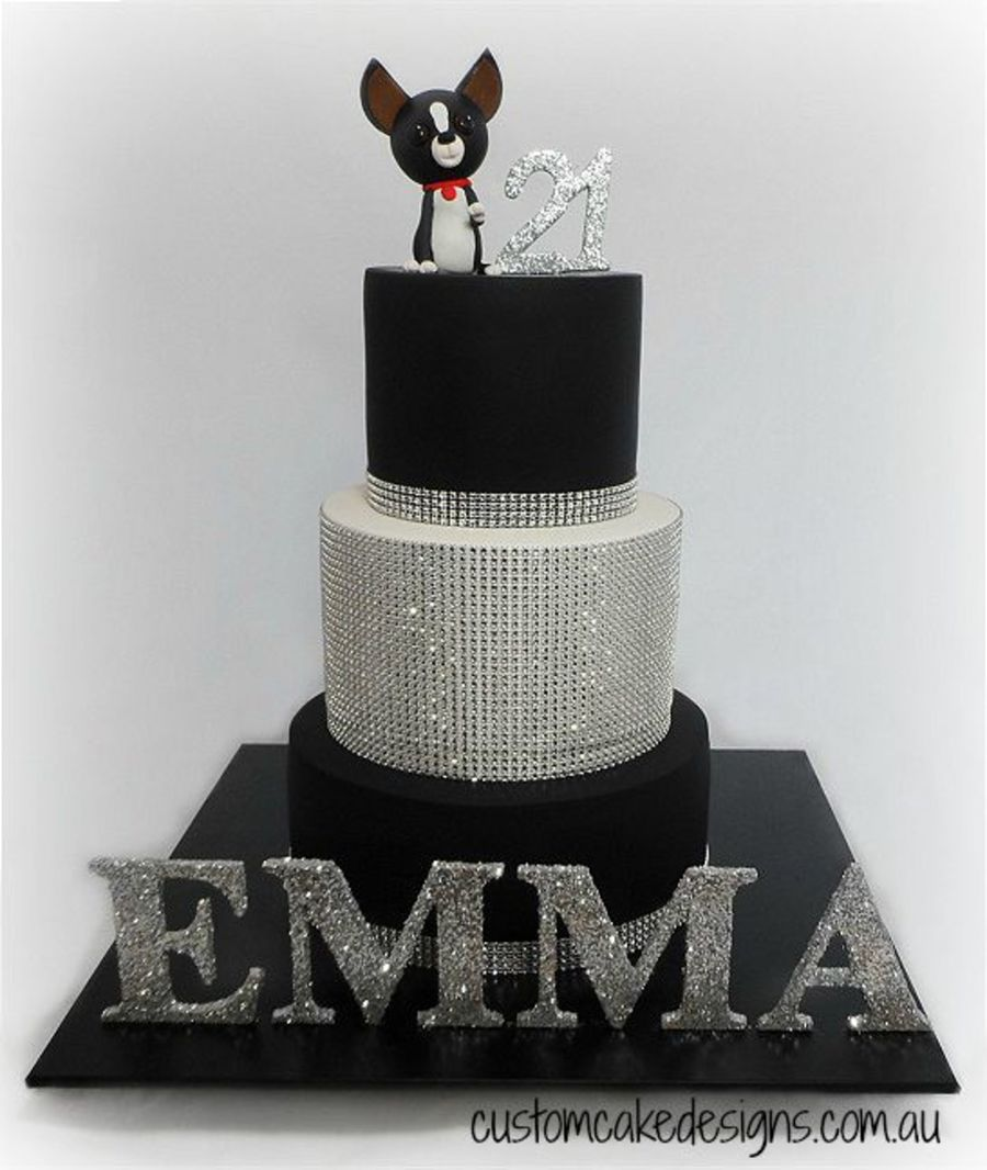 Chihuahua Bling 21st Cake Cakecentral