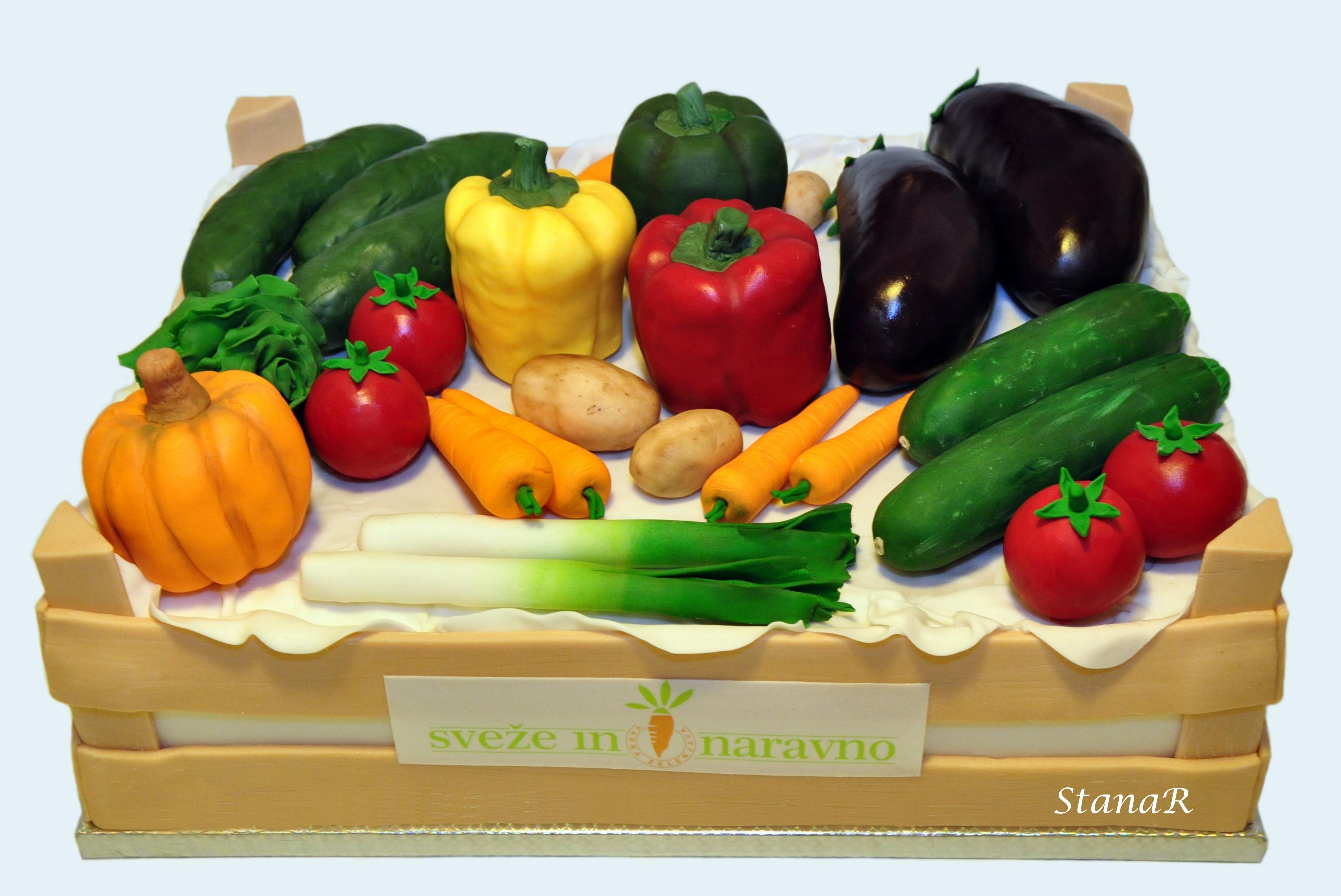 Cake Recipes In Veg: Vegetable Box Cake