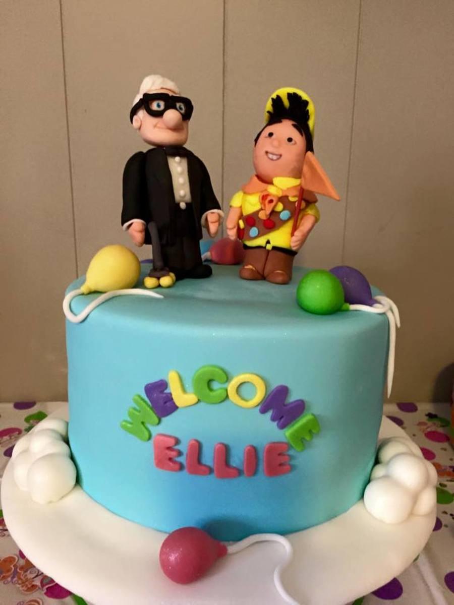 Up Disney Movie Theme Baby Shower Cake - Cakecentralcom-7569