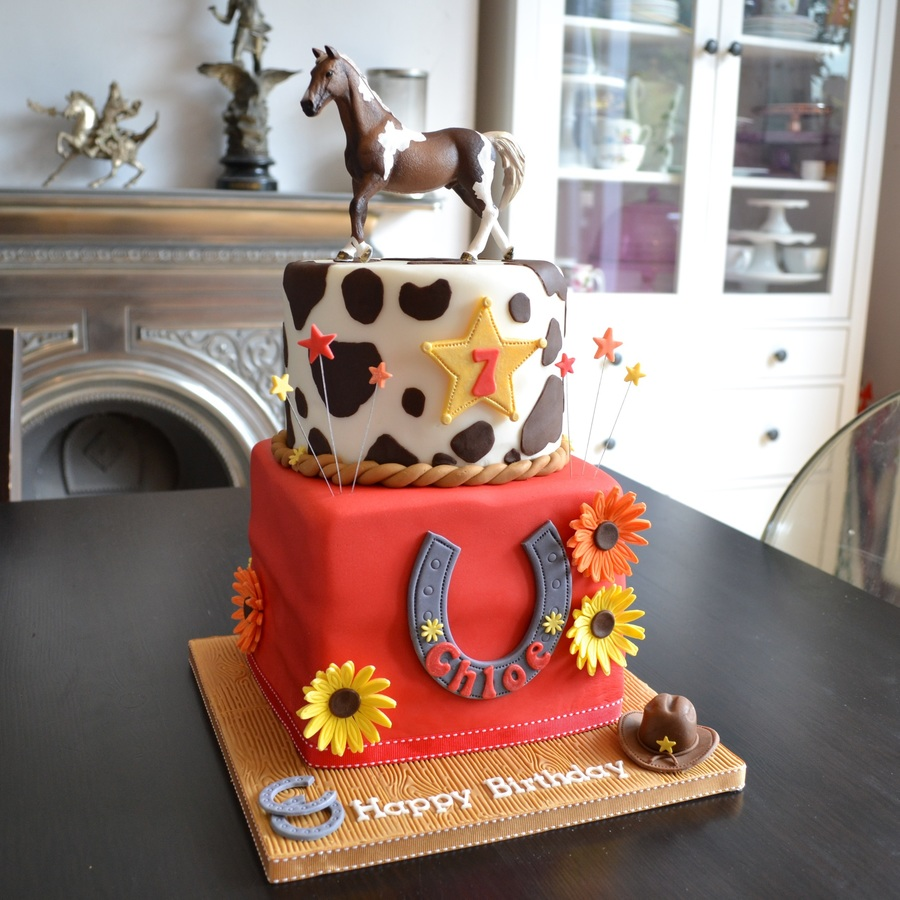 Cowgirl Horse Riding Birthday Cake Cakecentral
