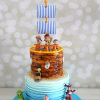 Jake And The Neverland Pirates Super fun making this Jake and the Neverland Pirate cake!