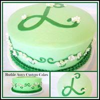 May Birthday Cake   BC frosting with gumpaste lily of the valley