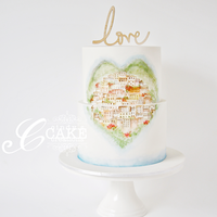 Positano Love This wedding cake was made for a gorgeous couple who eloped in Italy, and recently came back home to Melbourne to celebrate their marriage...
