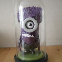 Purple Minion Blown and pulled sugar purple minion