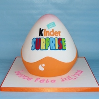 Kinder Egg   This cake is 6 layer high