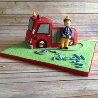 Fireman Sam Made this for a Fireman Sam fan, Noah, who turns3 tomorrow. TFL.