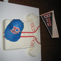 Retirement Cake Red Sox fan