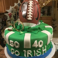 Football Cale Chochlate cake, Baseball is not edible