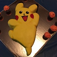 Pikachu! This is a Pikachu cake for my daughter's 24th birthday. She still loves her Pikachu!