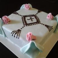 Celebration Cake This was made for my daughter's feast day (name day). It was the first time I was using fondant on a square cake and had absolutely no...