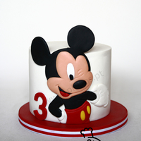 "Simply Mickey Just a simple cake for little 3 years old mickey loverGive I'm his ""happy birthday"" and a blink ;)"