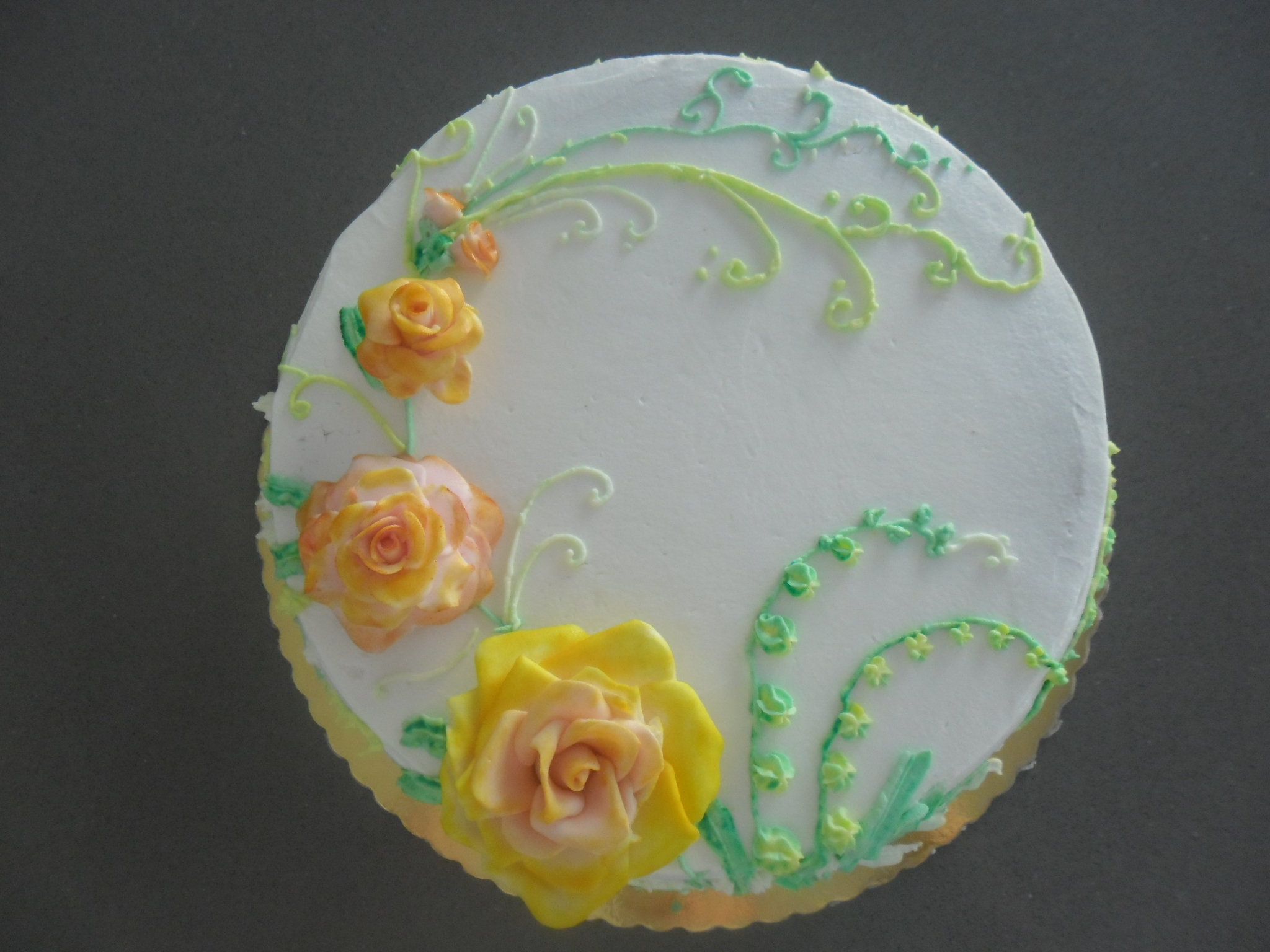 For My Aunt Birthday Fondant rose and buttercream decoration