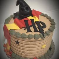 "Harry Potter Cake 6"" Mini Harry Potter Cake with Sorting Hat and Scarf"